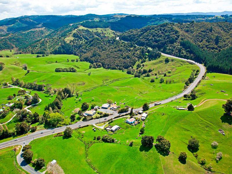 The Ara Tuhono - Puhoi to Wellsford project is part of the Roads of National Significance (RoNS) programme. Image courtesy of New Zealand Transport Agency.