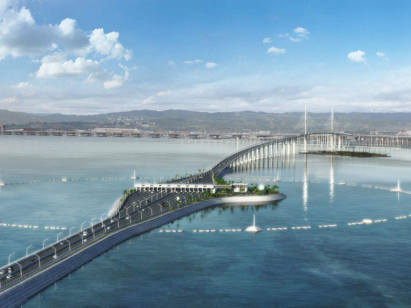 Cebu-Cordova bridge is one of the biggest infrastructure projects being undertaken in the Philippines. Image courtesy of DISSING+WEITLING architecture.