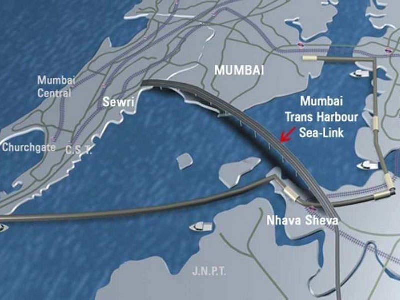 The Mumbai Trans Harbour Link will begin at Sewri in South Mumbai and Nhava Sheva in Navi Mumbai. Image courtesy of MMRDA.