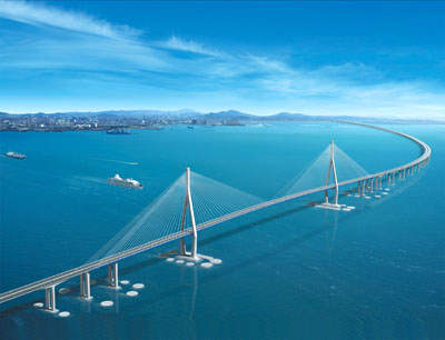 The most difficult part of the construction will be the cable-stayed bridge portion, lying over the main sea route in and out of Incheon Port.