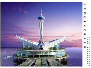 The service island at the middle of the Hangzhou Bay Bridge serves as a sightseeing location for drivers and can also support rescue services.