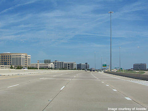 Texas Highway 161 in the Las Colinas area of Irving.
