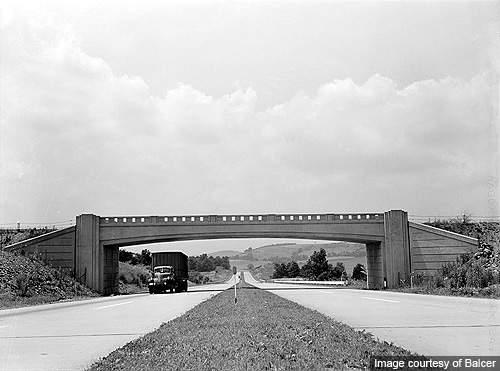 Pennsylvania Turnpike as it appeared in July 1942.