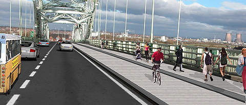 The Silver Jubilee Bridge will be modernised to a two-lane carriageway and will have pedestrian and cyclist links.