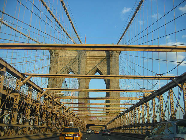 Brooklyn Bridge is toll-free and handles 145,000 vehicles a day.