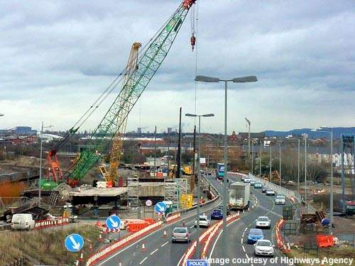 The 1,200t crane from Sarens ready for action.