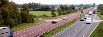 How the A74 looked prior to the upgrade; the route will change dramatically.