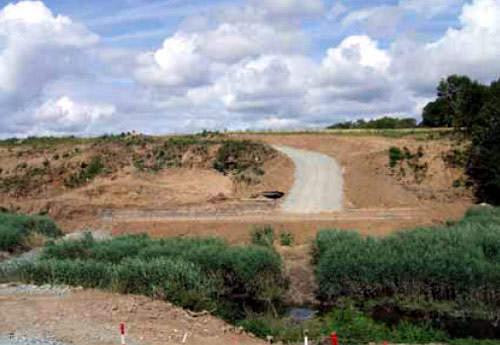 The progress of the road at Ballynamona.
