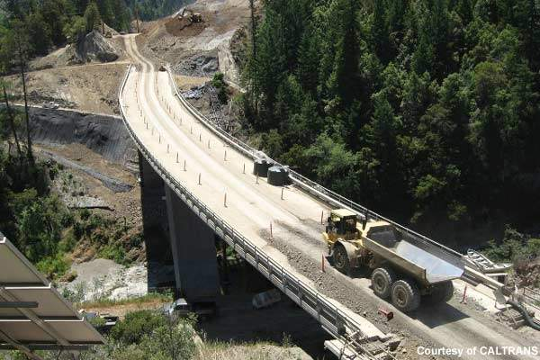 The Confusion Hill project will relocate US Route 101 to avoid continuing rock slide problems.