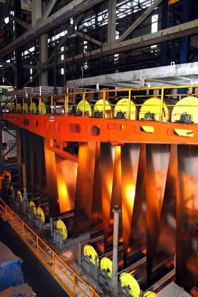 A Corus cold steel mill.