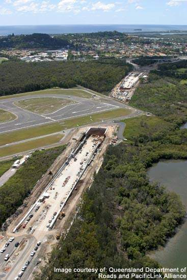 A 2km section of the Tugun Bypass will cross Gold Coast airport land and be parallel with the main runway, some of this will run in a tunnel in order to avoid disruption.