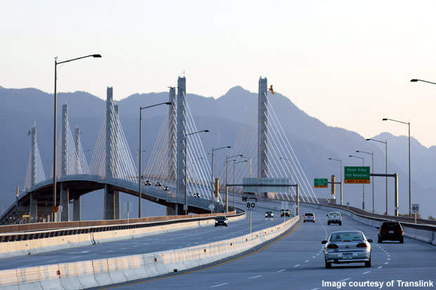 TransLink, the South Coast British Columbia Transportation Authority, constructed the bridge and a network of connecting roads to address local traffic congestion problems.