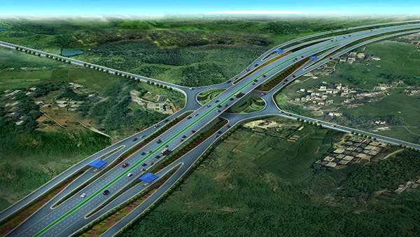 The new expressway connects the capital city Addis Adaba to Adama and is located adjacent to existing Addis Adaba Adama road. Image courtesy of Ethiopian Roads Authority.