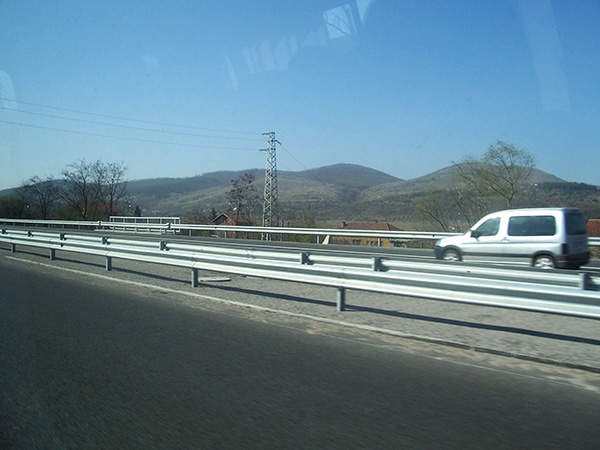 The 173.8km motorway has two lanes in each direction.