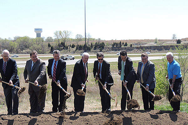 The second phase of the Johnson County Gateway project broke ground in April. Image courtesy of HNTB Corporation.