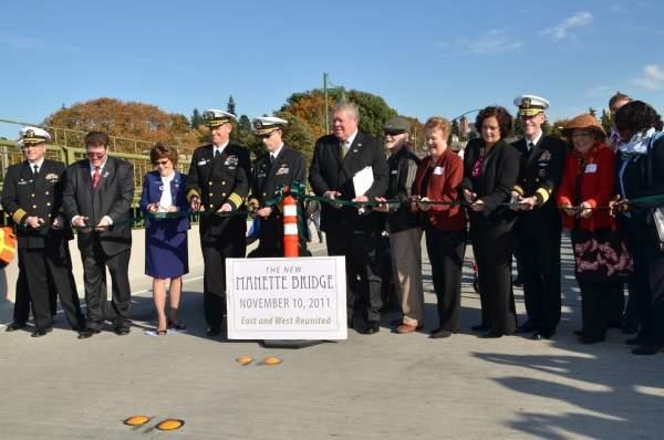 The Manette Bridge was inaugurated on 10 November, 2011. Image courtesy of WSDOT (Washington State Dept of Transportation).