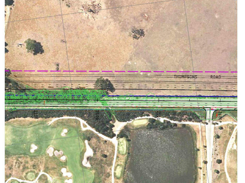 The project involves duplication of the 10.7km road to improve traffic flow. Image courtesy of VicRoads.