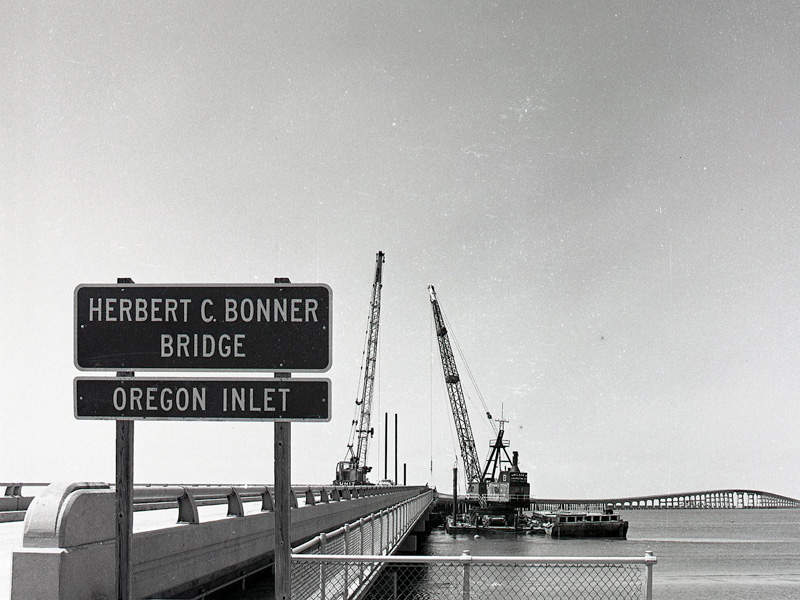 The Bonner Bridge was first constructed in 1963. Image courtesy of NCDOTcommunications.