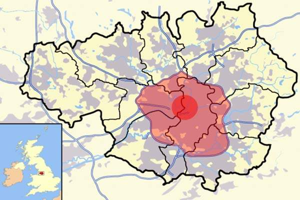 The congestion charge scheme will be based on two boundaries in Manchester city centre.