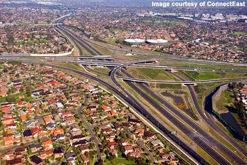 One of the 17 interchanges involved in the project.