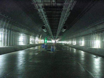 Inside the westbound tunnel.