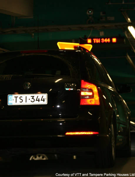 Optical number plate recognition is also used in the P-Innovations research project for vehicle guidance.