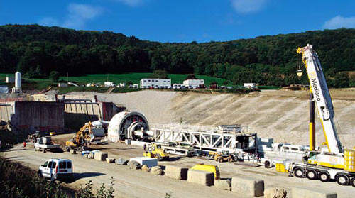 The precast yard will produce all the tunnel linings.