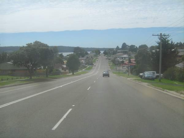 The Princes Highway between the north of Gerringong and Bega has a two-lane undivided carriageway with limited sections of four lanes.