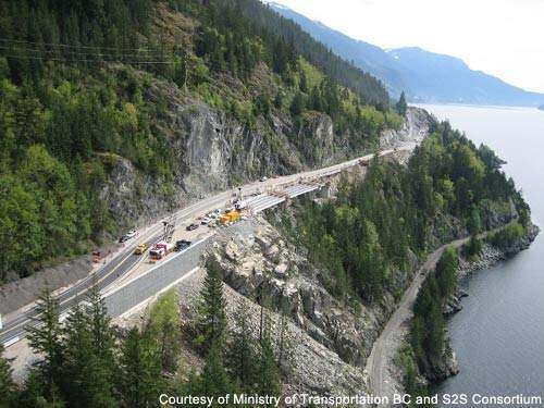 The S2S covers 100km from Whistler to West Vancouver.