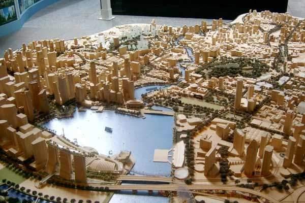 A visual envisaging the Marina Development.