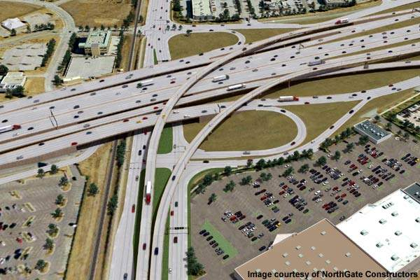 The project improves mobility in areas surrounding Interstate 635 and SH 114, 121 and 360.
