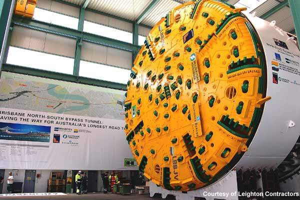 The TBMs used for the NSBT project have a diameter of 12.34m.