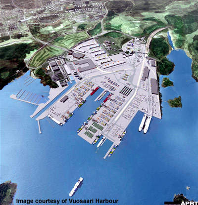 The harbour project has been undertaken to consolidate cargo services in the area and release land for development.