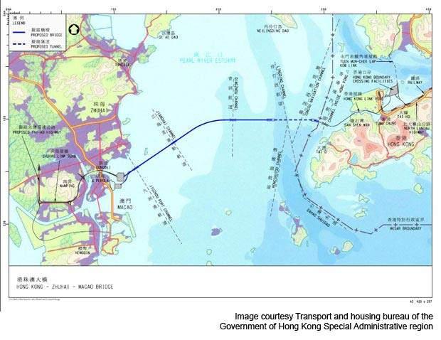 Hong Kong Zhuhai Macau Bridge plan.