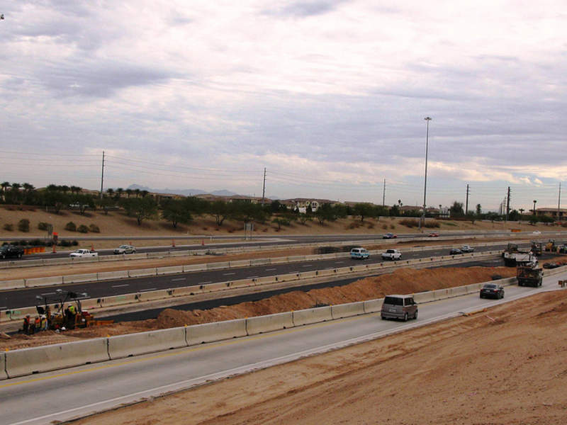 South Mountain Freeway is being built as a part of the Loop 202 system in Phoenix. Image: courtesy of Arizona Department of Transportation.