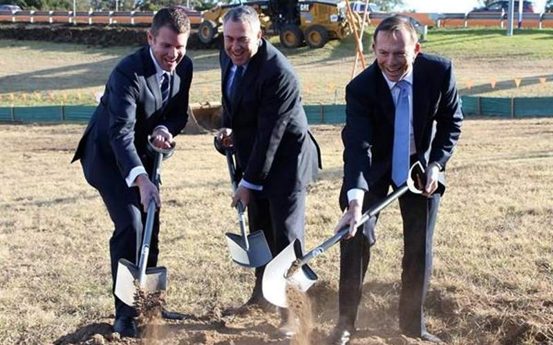 The groundbreaking ceremony for the first phase of construction was attended by the Prime Minister of Australia, leader of the NSW government, and Russell Matheson MP.