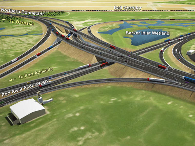 The Northern Connector motorway will be developed at a cost of $985 million. Image courtesy of Government of South Australia.