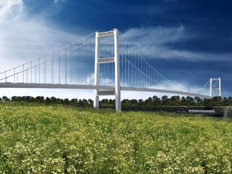 Artist's rendering of the new Gordie Howe International Bridge. Image courtesy of the Windsor-Detroit Bridge Authority.