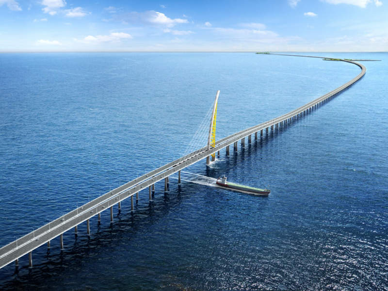 The project includes the construction of the Subiyah Causeway and the Doha Causeway. Image courtesy of Kuwait Ministry of Public Works.