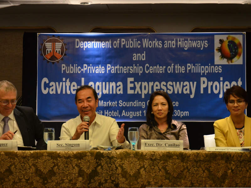 The Philippines' Department of Public Works and Highways is managing the CALAX project through a public-private partnership arrangement.