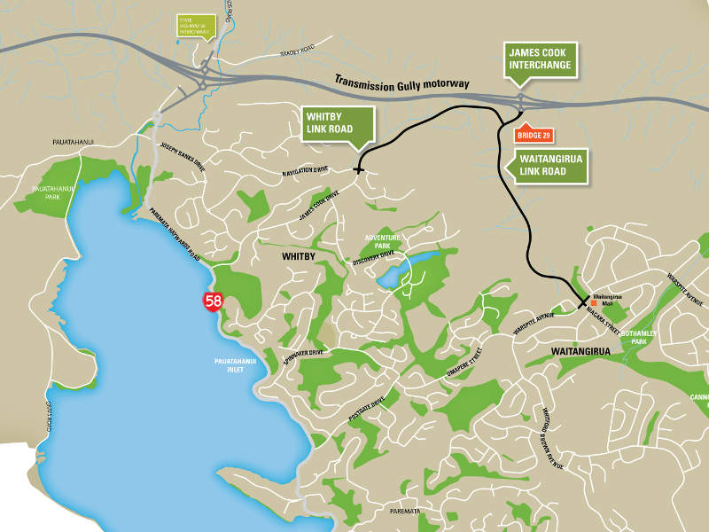 The 27km project is part of the 110km Wellington Northern Corridor. Image courtesy of Porirua City Council.