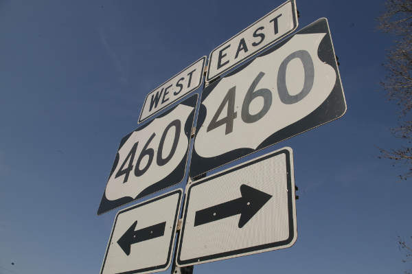 A new parallel road will be constructed to the south of the existing Route 460 as a part of U.S. Route 460 Corridor Improvement Program.