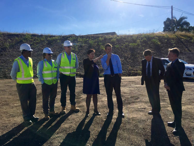 Construction on the road upgrade began in March 2015. Image courtesy of Tanya Davies MP.