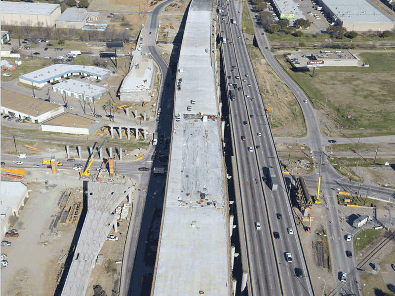 The project will add new lanes, ramps and toll lanes along the corridor. Image courtesy of AGL Constructors.