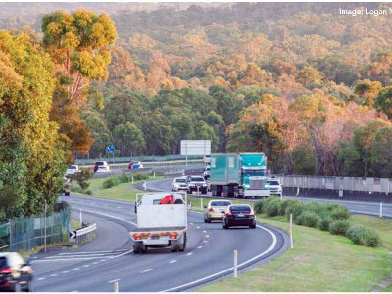 The Logan Motorway Enhancement project proposes construction of new high-speed service roads on both sides of the Logan Motorway and Gateway Extension interchange. Image courtesy of Queensland Motorways Management Pty Ltd.