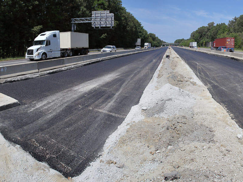 The project includes addition of a 12ft-wide travel lane and another 12ft-wide shoulder in each direction in all three segments. Image courtesy of Virginia Department of Transportation.