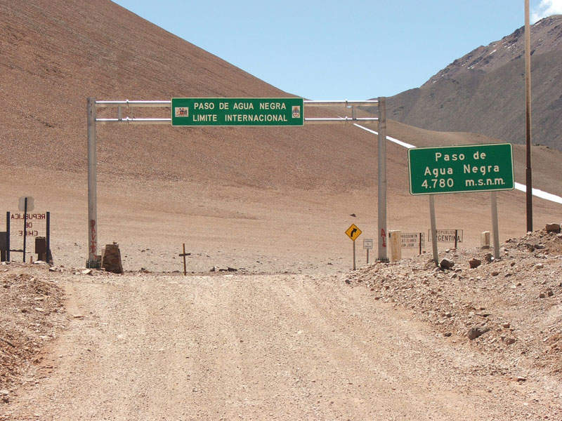 Chilean side of the Agua Negra mountain passageway. Image courtesy of Joe Merlo.