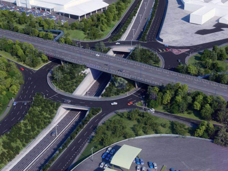 The project will upgrade the existing roundabout to a three-level interchange junction. Image courtesy of Government of UK.