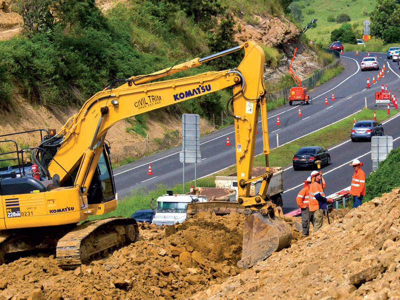 Stage one of the project construction between Nugent Pinch Road and Charlton began in February 2015. Image courtesy of the State of Queensland (Department of Transport and Main Roads).