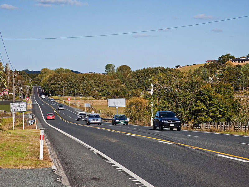 The project begins with the 18.5km extension to the State Highway-1. Image courtesy of New Zealand Transport Agency.